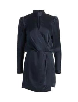 Puff Sleeve Silk Wrap Dress by Frame
