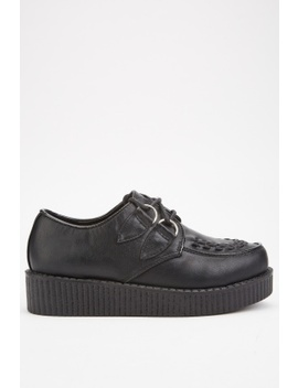 Stitched Front Platform Shoes by Everything5 Pounds