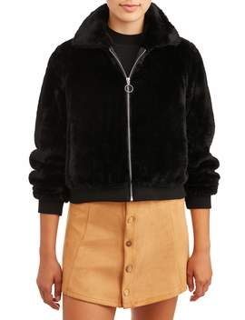 No Boundaries Juniors' Faux Fur Jacket by No Boundaries