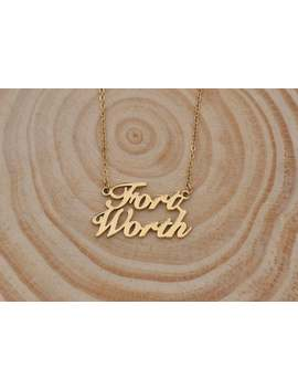 Two Name Necklace, 2 Name Necklace, Customized Name Necklace Personalized Charm For Best Friends Gift Fort Worth by Etsy