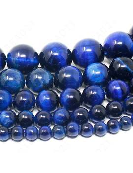 """Blue Tiger Eye Beads Natural Gemstone Round Loose   4mm 6mm 8mm 10mm 12mm   15.5"""" Strand by Etsy"""