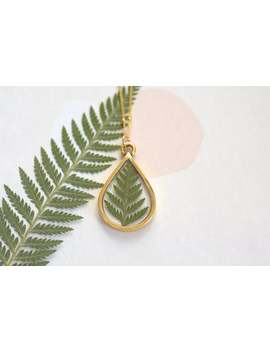 Fern Necklace, Nature Jewelry, Botanical Necklace,Pressed Fern Necklace,Bridesmaid Gift,Botanical Jewelry,Fern Jewelry, Real Leaf Necklace by Etsy
