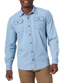 Wrangler Men's Long Sleeve Denim Shirt by Wrangler