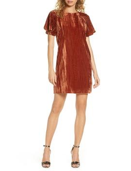 Velvet Shift Dress by Charles Henry