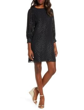 Maisel Metallic Clip Dot Silk Dress by Lilly Pulitzer®