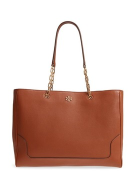 Marsden Pebbled Leather Tote by Tory Burch