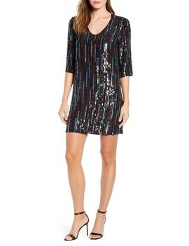 Sequin Shift Dress by Velvet By Graham & Spencer