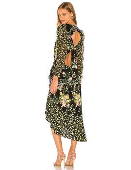 Ross Midi Dress In October Floral by For Love & Lemons