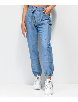Empyre Jacky Cargo Denim Jogger Pants by Empyre