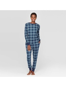Women's Family Pajama Plaid Pajama Set   Blue by Shop This Collection
