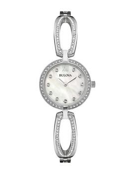 Women's Swarovski Crystal Accented Cutout Link Watch, 26mm by Bulova