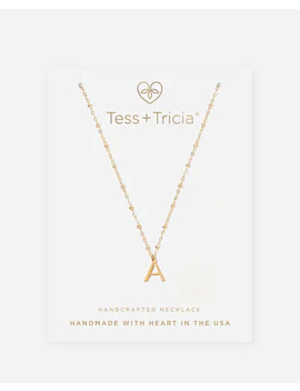 Tess + Tricia Gold Simple Initial Necklace by Express