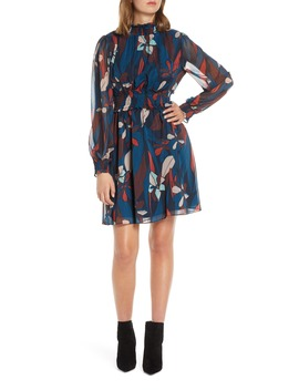 Floral Long Sleeve Chiffon Dress by Forest Lily