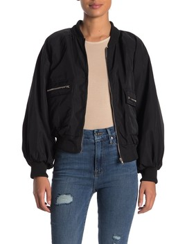 Puff Sleeve Bomber Jacket by Know One Cares