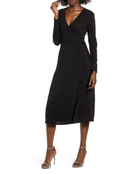 Wrap Front Midi Dress by All In Favor