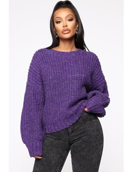 Cozy Feeling Sweater   Purple by Fashion Nova