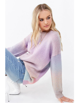 Ombre Drop Sleeve Sweater by Forever 21