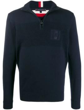 Logo Half Zip Sweater by Tommy Hilfiger
