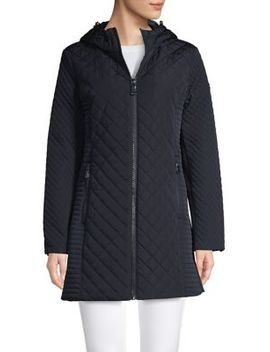 Quilted Zip Front Jacket by Calvin Klein