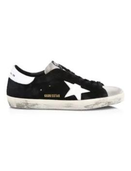 Men's Superstar Black Ice Low Top Suede Sneakers by Golden Goose Deluxe Brand