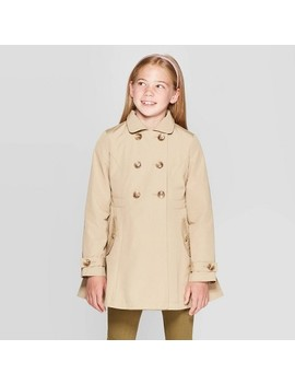 Girls' Trench Coat   Cat & Jack™ Brown by Cat & Jack