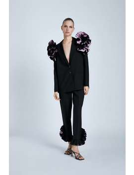 Ruffled Hem Pants by Zara