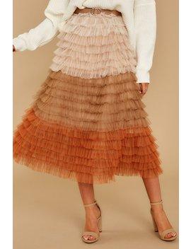 A Love I Knew Mocha Multi Skirt by Aura