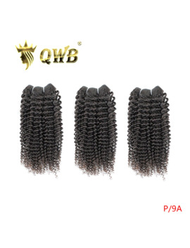 Qwb Free Shipping Kinky Curly 3 Bundle/Lots 12''~24''professional Ratio Brazilian Virgin Nature Color 100% Human Hair Extension by Ali Express.Com