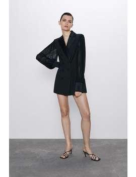 Combination Sleeve Blazer Dress by Zara