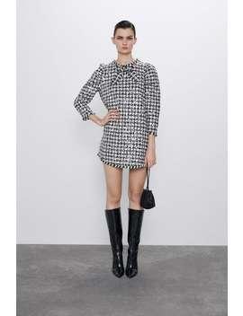 Houndstooth Sequin Dress by Zara