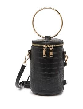 Croc Embossed Drum Crossbody Bag by Emperia