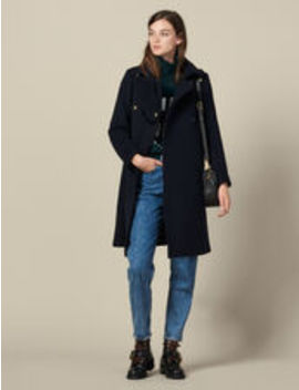 Military Wool Blend Coat by Sandro Eshop