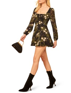 Wilder Floral Long Sleeve Minidress by Reformation