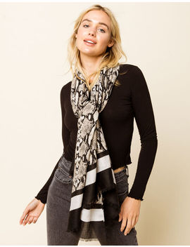 West Of Melrose Snake Print Scarf by West Of Melrose