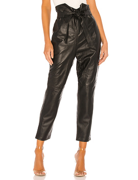 Delaney Leather Pants In Black by L'academie