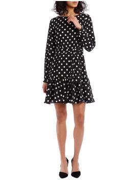 Double Frill Skirt Dress   Polka Dot by Tokito