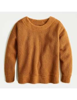 Teddy Cropped Sherpa Pullover Sweatshirt by J.Crew
