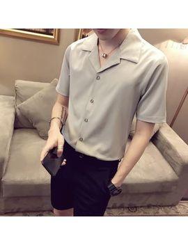 Deepwood   Short Sleeve Plain Shirt by Deepwood