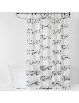 """Clean/Dirty"" Shower Curtain Bundle Black/White   Room Essentials™ by Room Essentials"