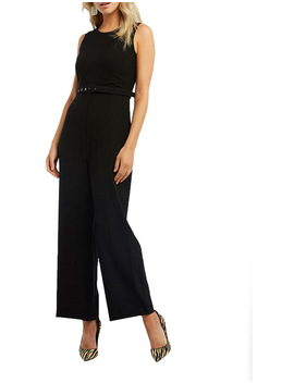 Belted Jumpsuit by Bardot