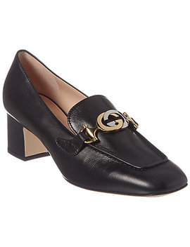 Gucci Zumi Mid Heel Leather Loafer by Gucci