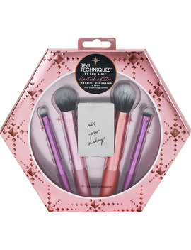 Real Techniques Limited Edition Metallic Dimension Cosmetic Brush Set   5 Piece by Real Techniques