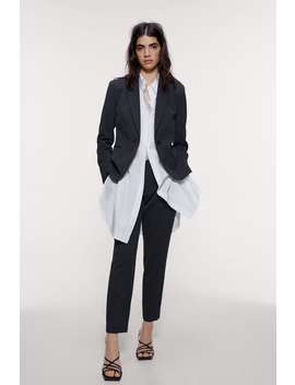Textured Cigarette Pants by Zara