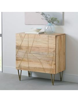 Roar + Rabbit™ Brass Geo Inlay 3 Drawer Dresser   Raw Mango by West Elm