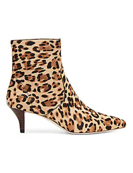 Kassidy Leopard Print Calf Hair Ankle Boots by Loeffler Randall