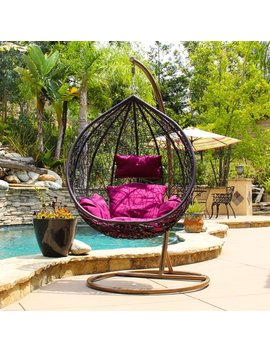 Dl Furniture Elegant Pool Side Swing Chair With Steel Hanger, Light Cherry by Dl Furniture