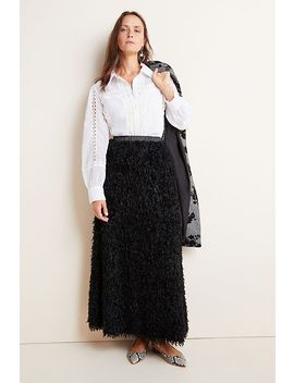 Chantal Feathered Maxi Skirt by Sunday In Brooklyn