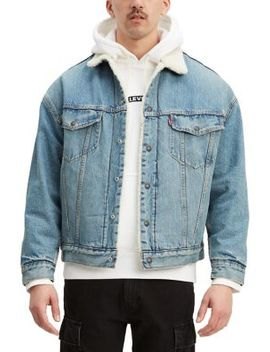 Oversized Denim Faux Shearling Trucker Jacket by Levi's