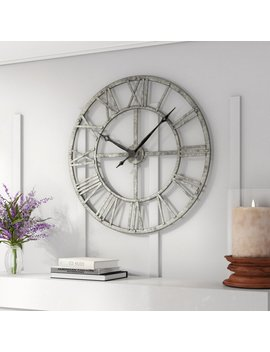 "Oversized Vergara 32"" Wall Clock by Gracie Oaks"