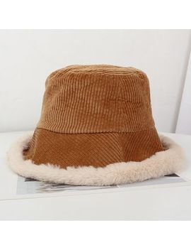 Oktokki   Fleece Lined Corduroy Bucket Hat by Oktokki
